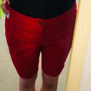 """Red """"Faded Glory"""" shorts"""
